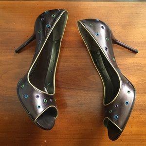 BCBG metallic heels size 8